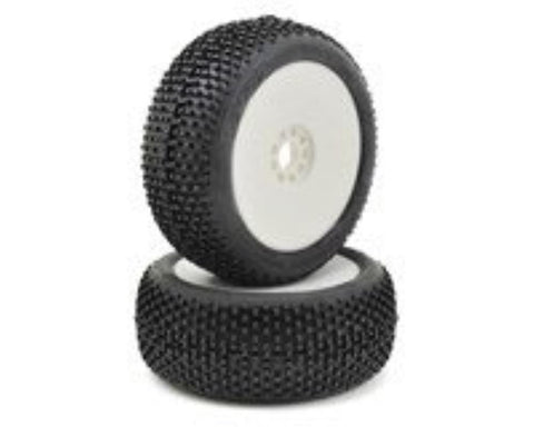 AKA 1:8 BUGGY I-BEAM (SUPER SOFT - LONG WEAR) EVO WHEEL PRE-MOUNTED WHITE