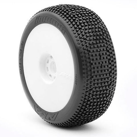 AKA 1:8 BUGGY IMPACT (SOFT - LONG WEAR) EVO WHEEL PRE-MOUNTED WHITE