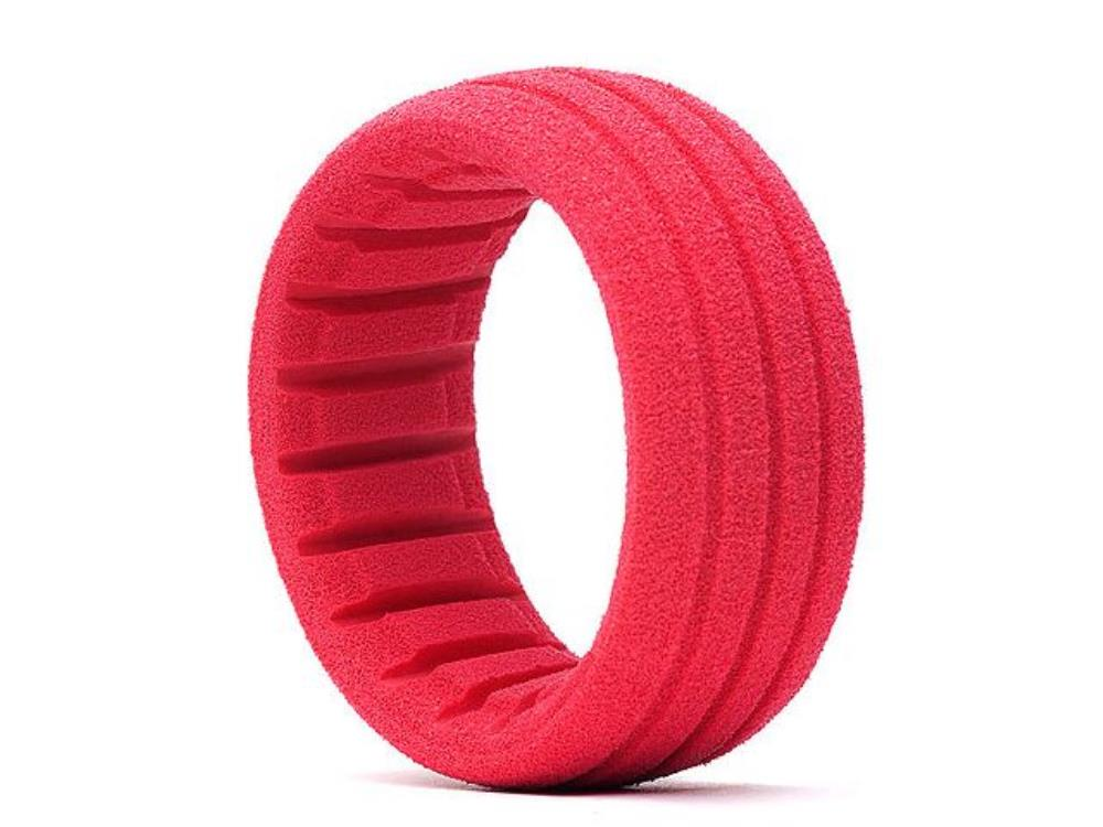 AKA 1:8 BUGGY/SC SHAPED INSERT GROOVED RED (SOFT) (4 PCS)