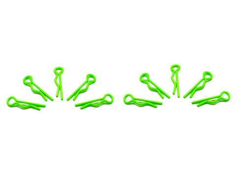 ARROWMAX Small Body Clip 1/10 - Fluorescent Green  (10)(AM-103103)