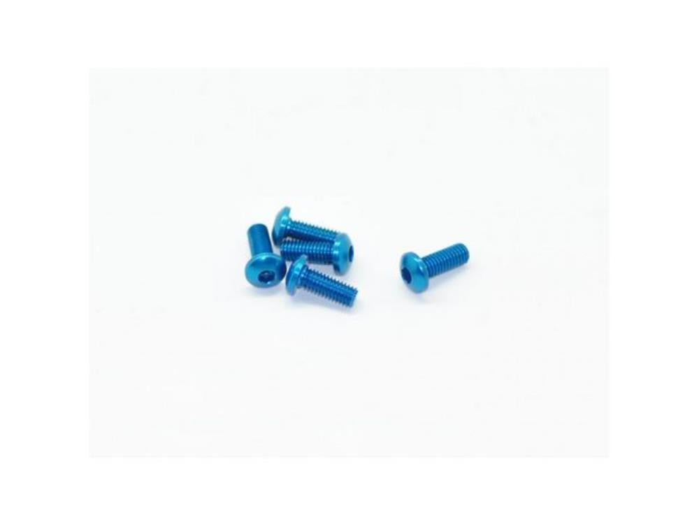 ARROWMAX Alu Screw allen roundhead M3x8 Blue (7075) (5)