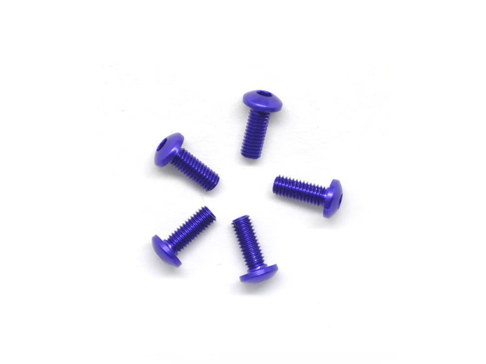ARROWMAX Alu Screw Allen Roundhead M3X8 Purple (7075) (5) (AM-14RH3008-P)