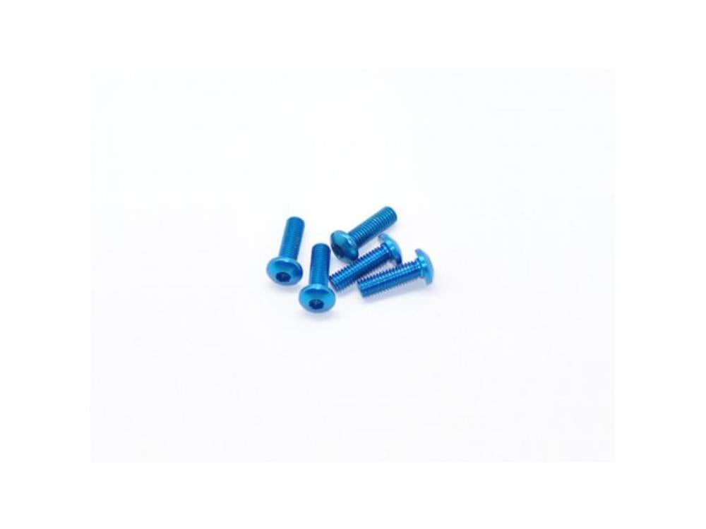 ARROWMAX Alu Screw allen roundhead M3x10 Blue (7075) (5)