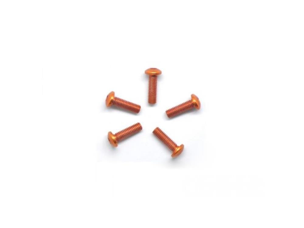 ARROWMAX Alu Screw Allen Roundhead M3X10 Orange (7075) (5)(AM-14RH3010-O)