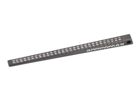 ARROWMAX ULTRA-FINE CHASSIS RIDE HEIGHT GAUGE 2-8MM (0.1MM)