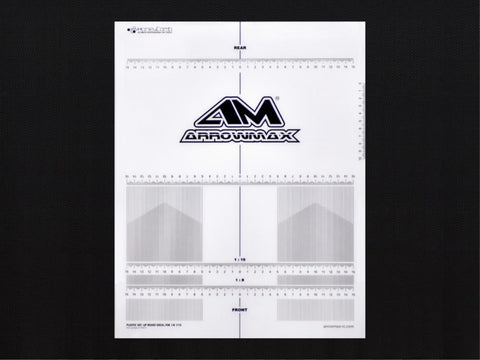 ARROWMAX Plastic Set-Up Board Decal For 1/8, 1/10(AM-170073)