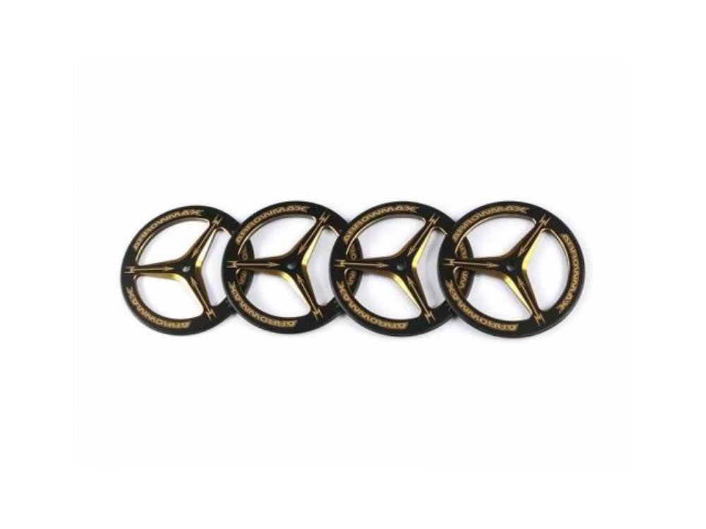 ARROWMAX Alu Set-Up Wheel For Rubber Tires  Black Golden (4)(AM-171007)