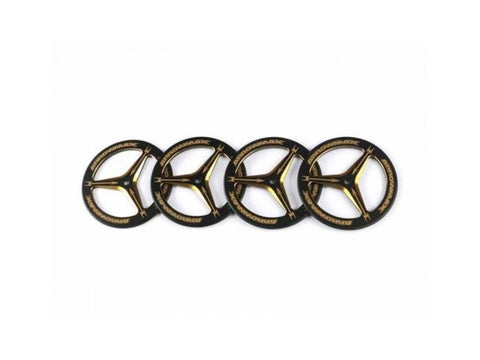 ARROWMAX Alu Set-Up Wheel For Rubber Tires  Black Golden (4)