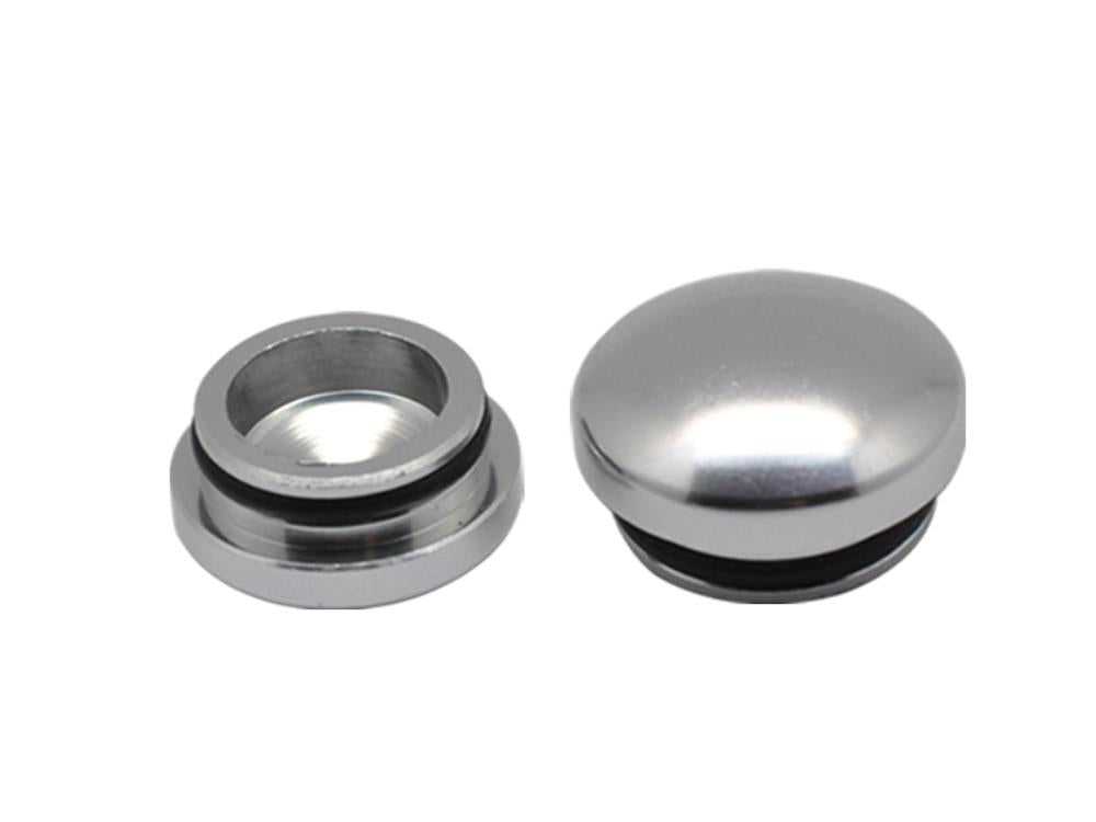 ARROWMAX 18MM & 22MM Aluminum End Cap - Silver (2)(AM-199008)