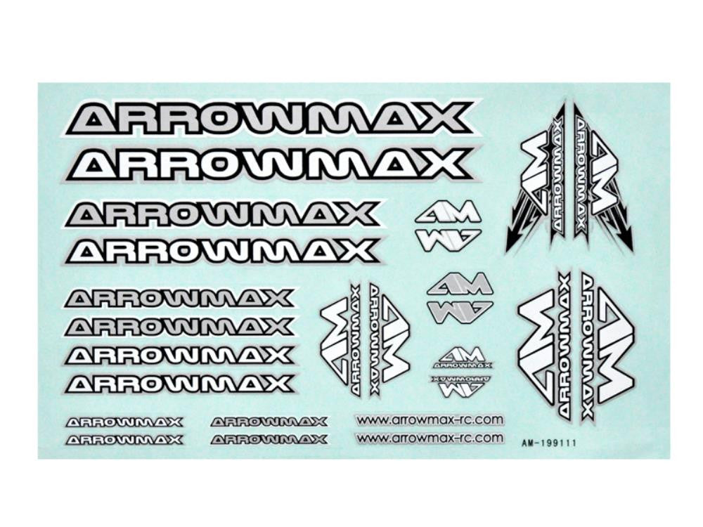 ARROWMAX AM Decal ( 14 x 21 cm) Silver