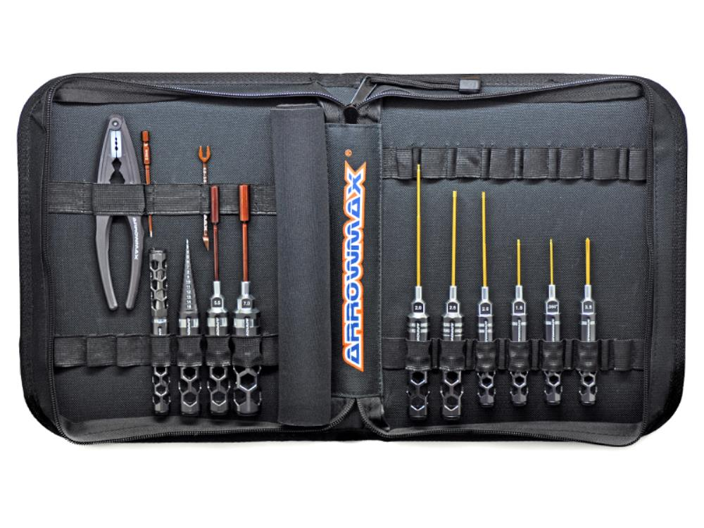 ARROWMAX AM Honeycomb Toolset For 1/10 Offroad (13Pcs) With Tools Bag (AM-199412)