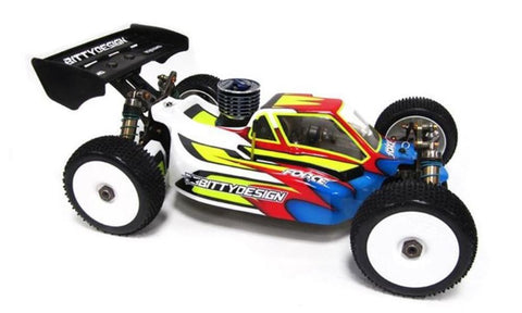 BITTYDESIGN Force clear 1/8 buggy body Kyosho MP9 | TKI 2-3