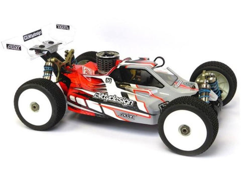 BITTYDESIGN FORCE clear 1/8 buggy body Kyosho MP9 | TKI 4