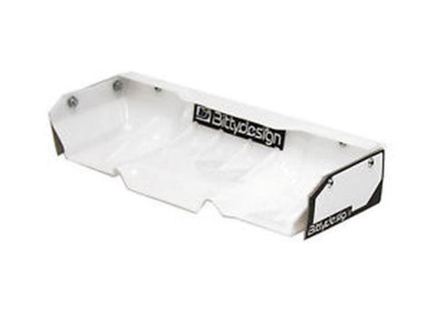 BITTYDESIGN Zefirus White Lexan wing for 1/8 buggy-truggy