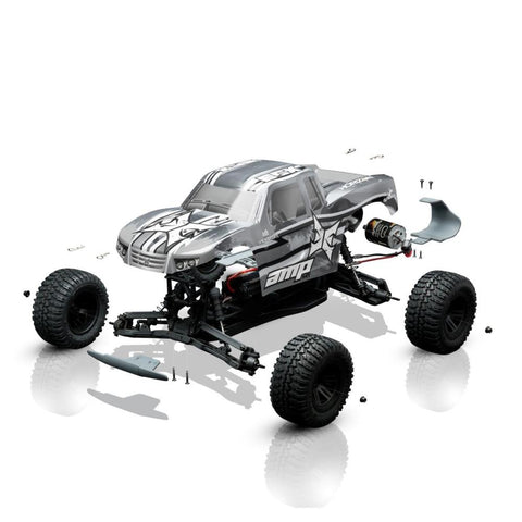 ECX AMP 1/10 Monster Truck Assembly Kit with Electronics (ECX03034I)