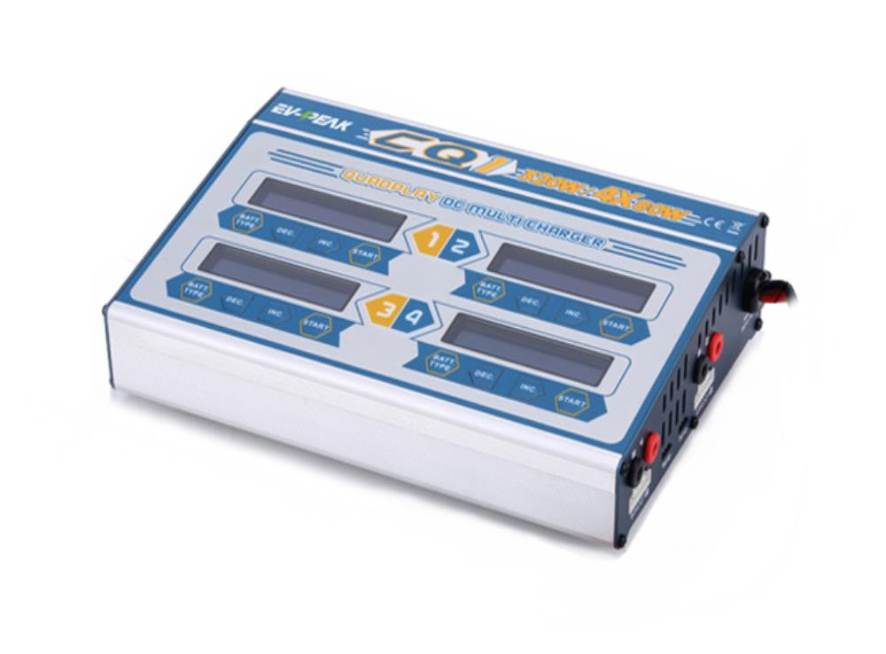 EV-PEAK CQ1 QUAD LIPO BATTERY CHARGER 8A - 80W Channel DC