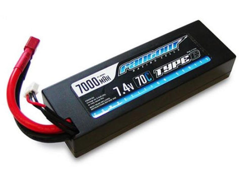 FANTOM LIPO BATTERY 7000mAh, 70C-140C, 2S, Comp, Deans