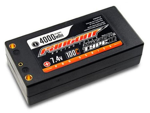 FANTOM LIPO BATTERY 4000mAh, 100C-160C, 2S, Pro MaxV-SPEC, Shorty, 4mm bullet