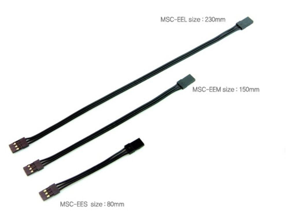 MUCHMORE Black Suit ESC Connector male <-> male (80mm)