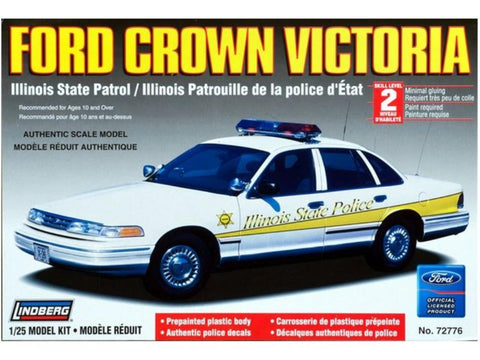 LINDENBERG 1:25 Ford Crown Vic Illinois State Police (prepainted) Plastic Kit RLIN72776