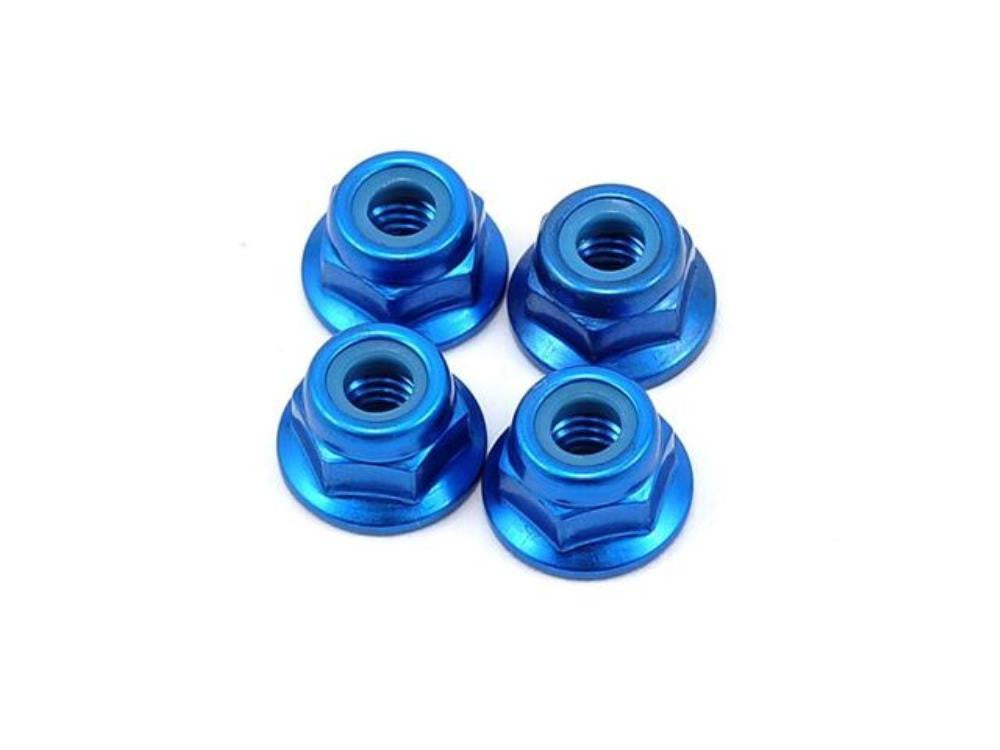 YOKOMO Aluminum Flange Lock Nut  (Blue)  4mm ( ZC-N4AFB )