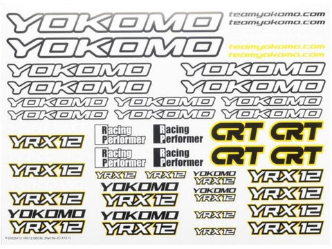 YOKOMO YR-X12 Decal set ( ZC-x12-1 )