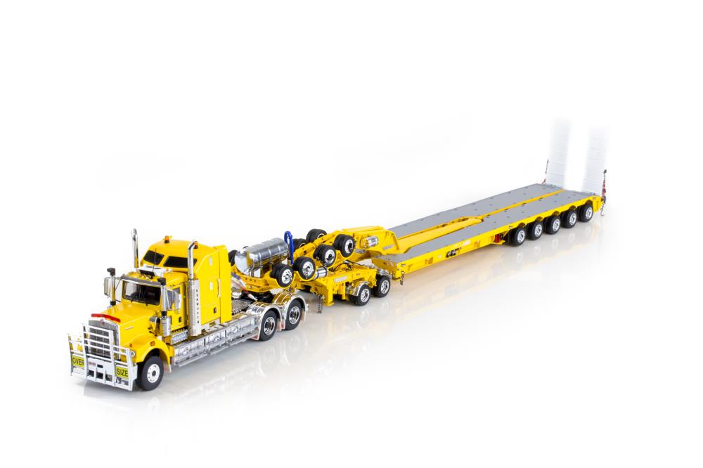 DRAKE C509 Sleepers with Drake 2x8 Dolly and 5x8 Swingwing Trailer - Chrome Yellow
