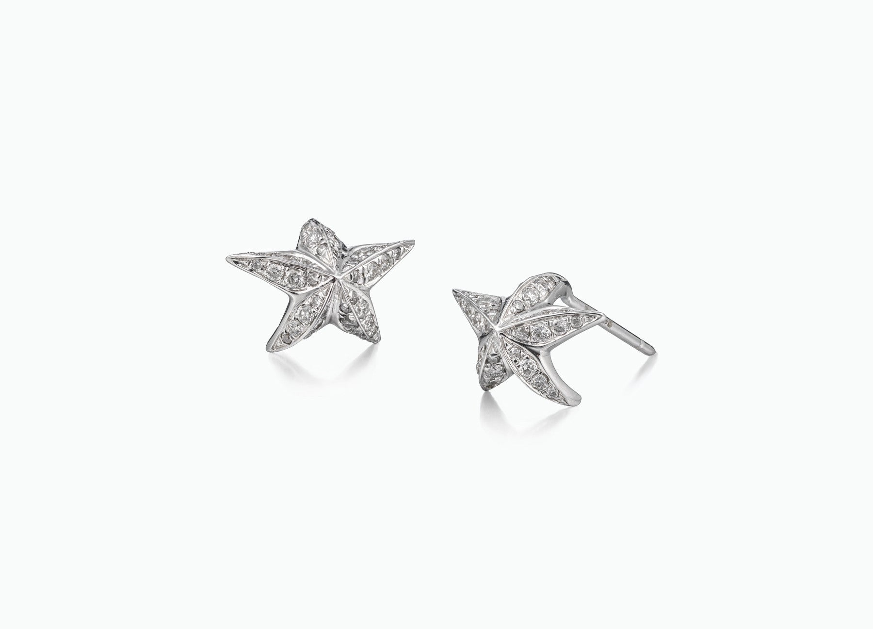 BLACK STAR STUD EARRINGS DIAMOND