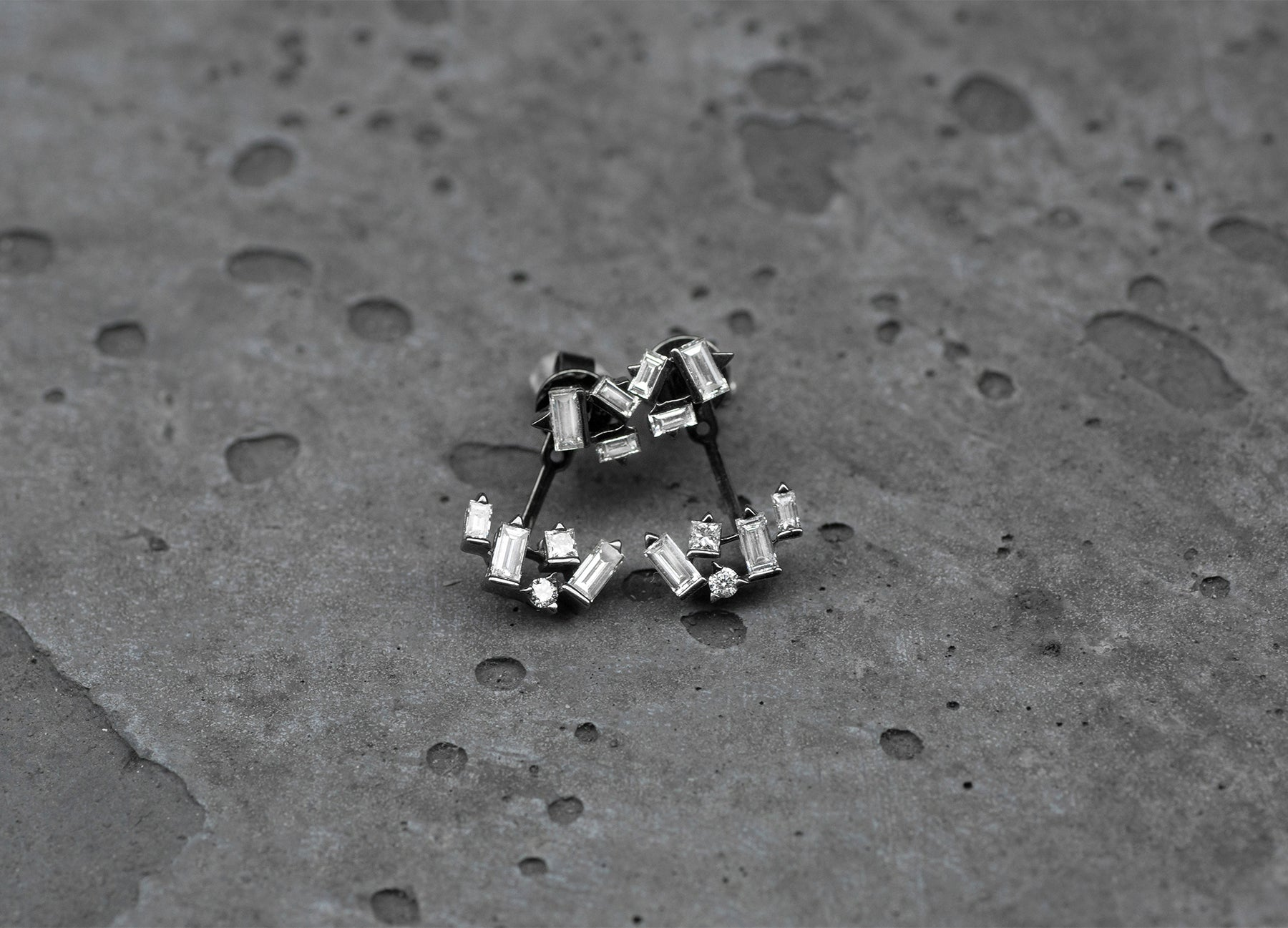 Cosmic Cluster Earrings with Ear Jackets