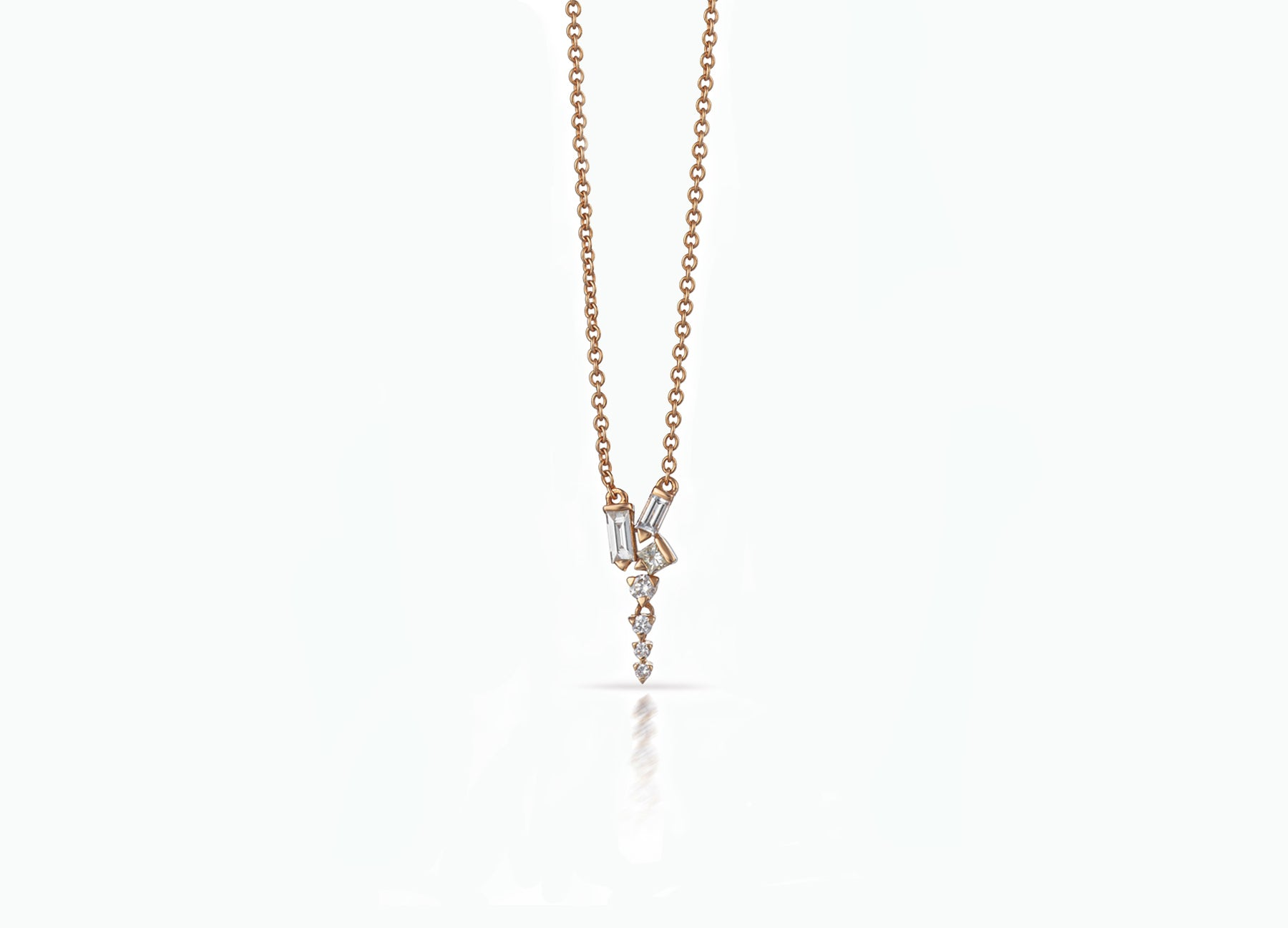 COSMIC SHORT DROP NECKLACE ROSE GOLD