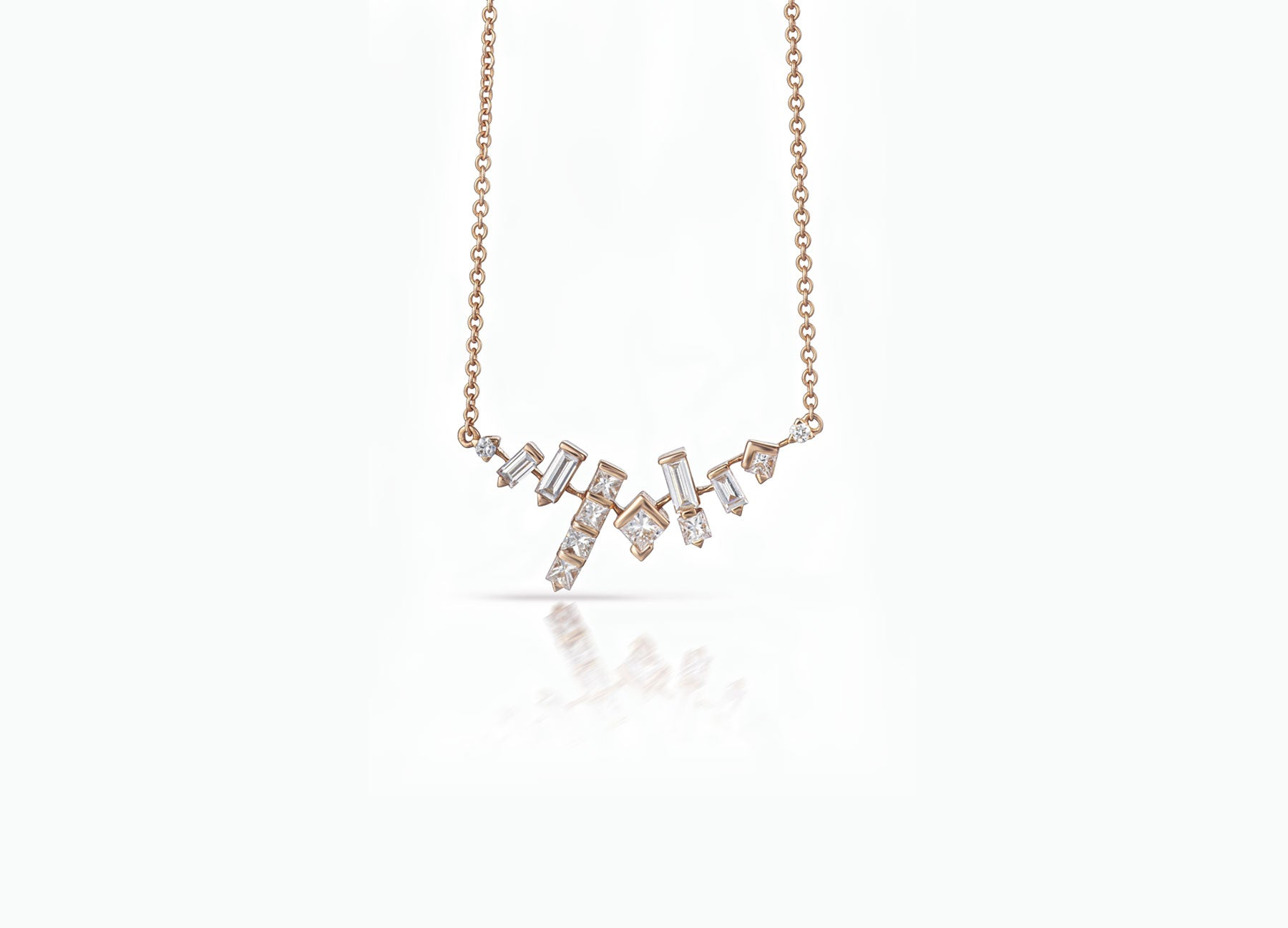 COSMIC CLUSTER NECKLACE ROSE GOLD