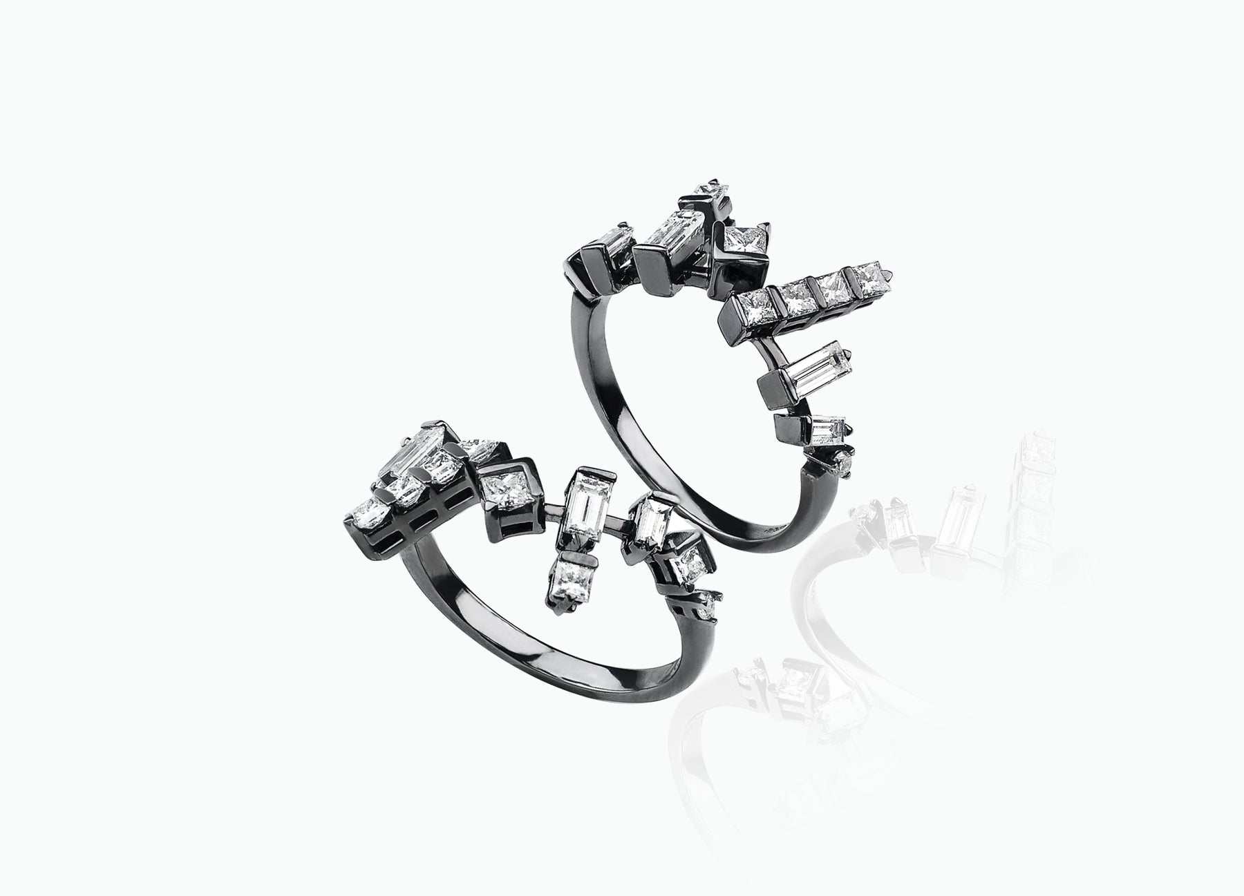 COSMIC PAIR OF STACKING RINGS