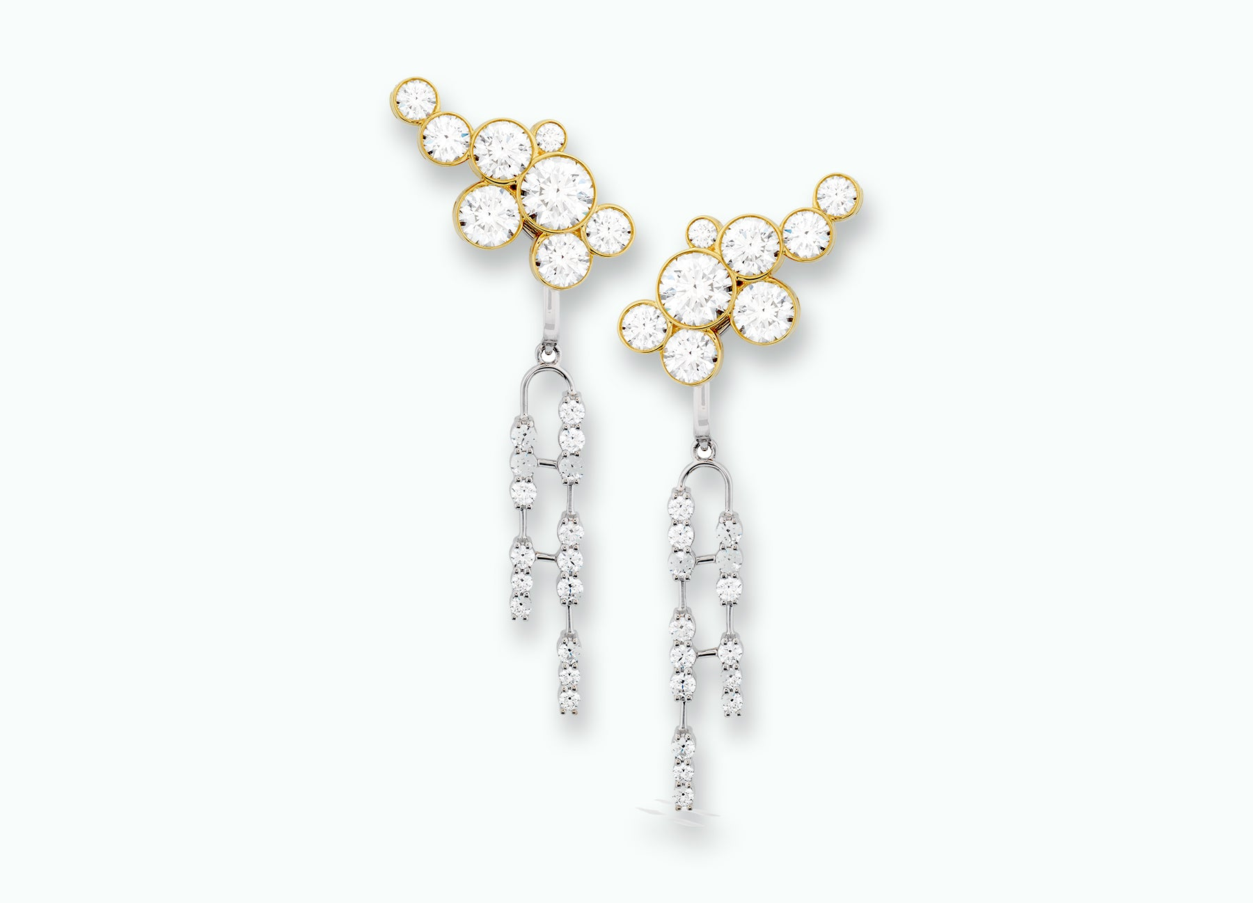DIAMOND BUBBLE EARRINGS