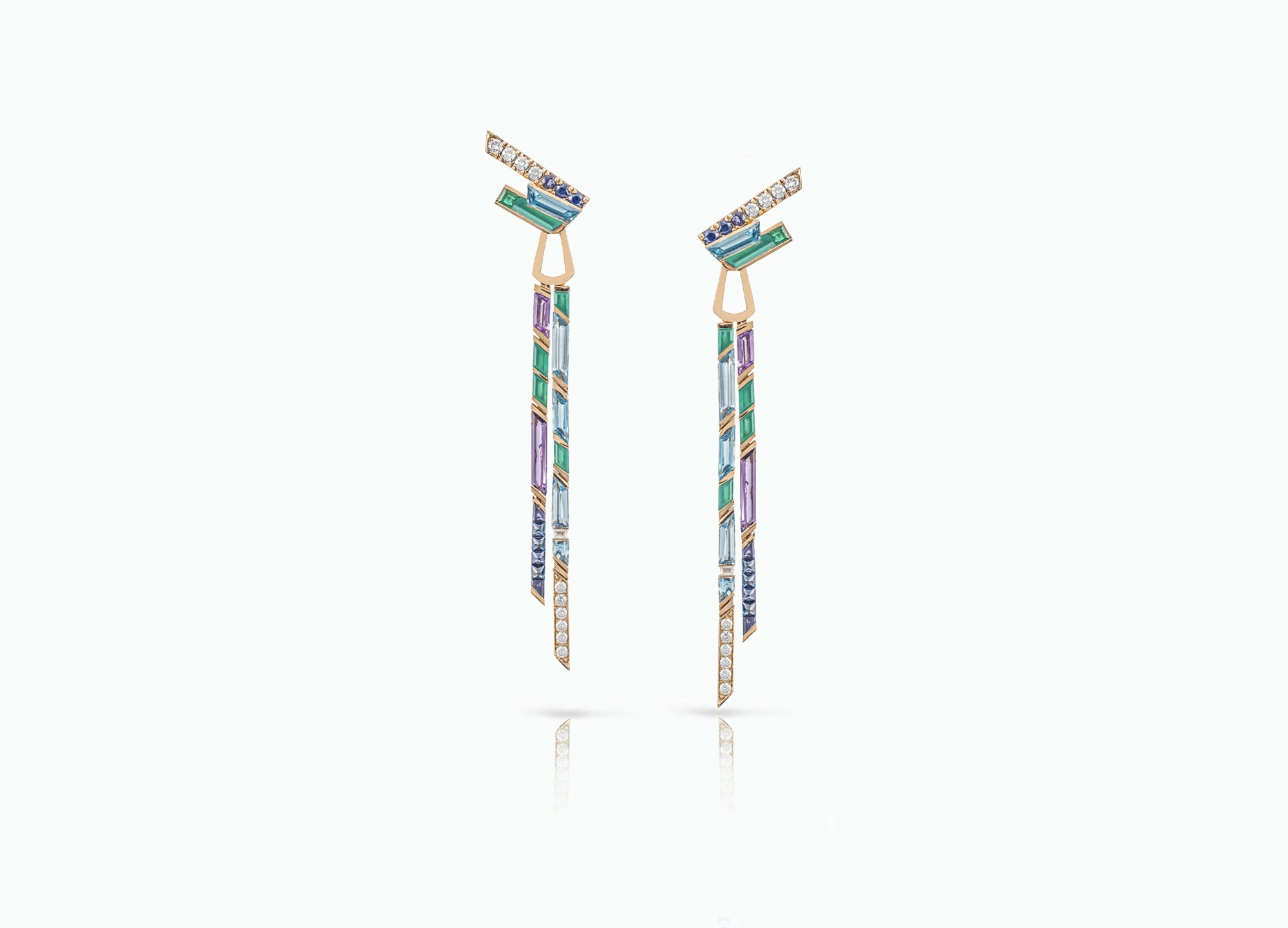ELECTRIC NIGHT CASCADE MEDIUM DROP EARRINGS