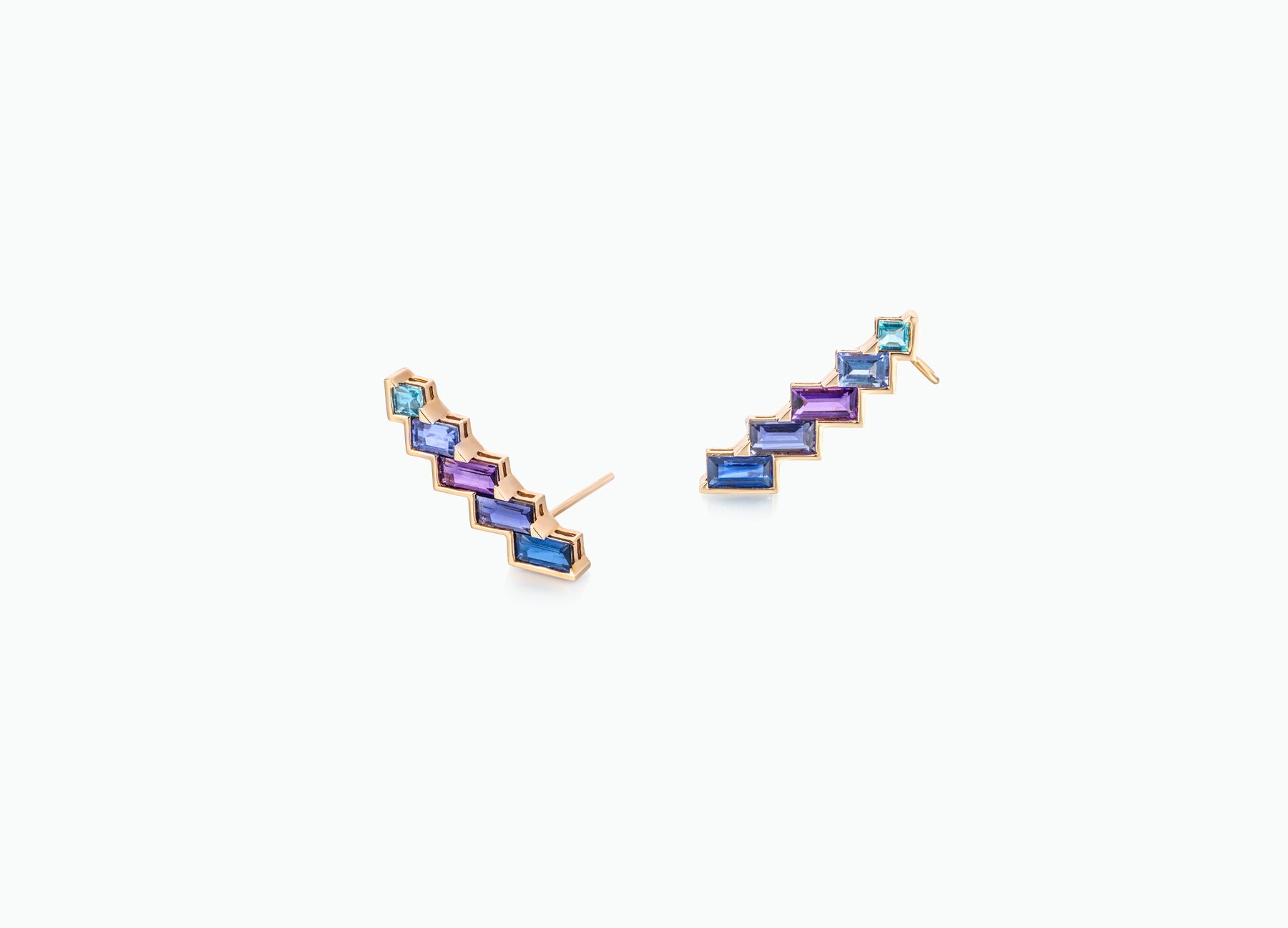 ELECTRIC NIGHT HORIZONTAL CUFF EARRINGS
