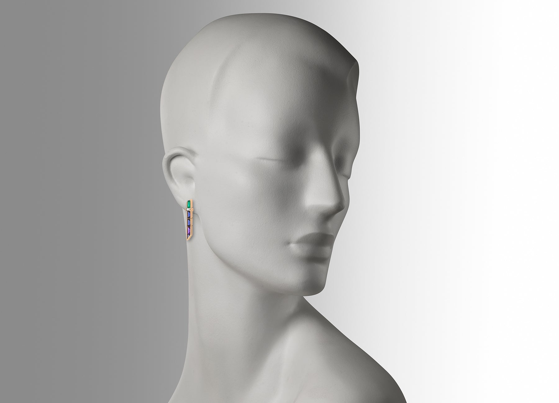 ELECTRIC NIGHT SHORT AND LONG DROP EARRINGS