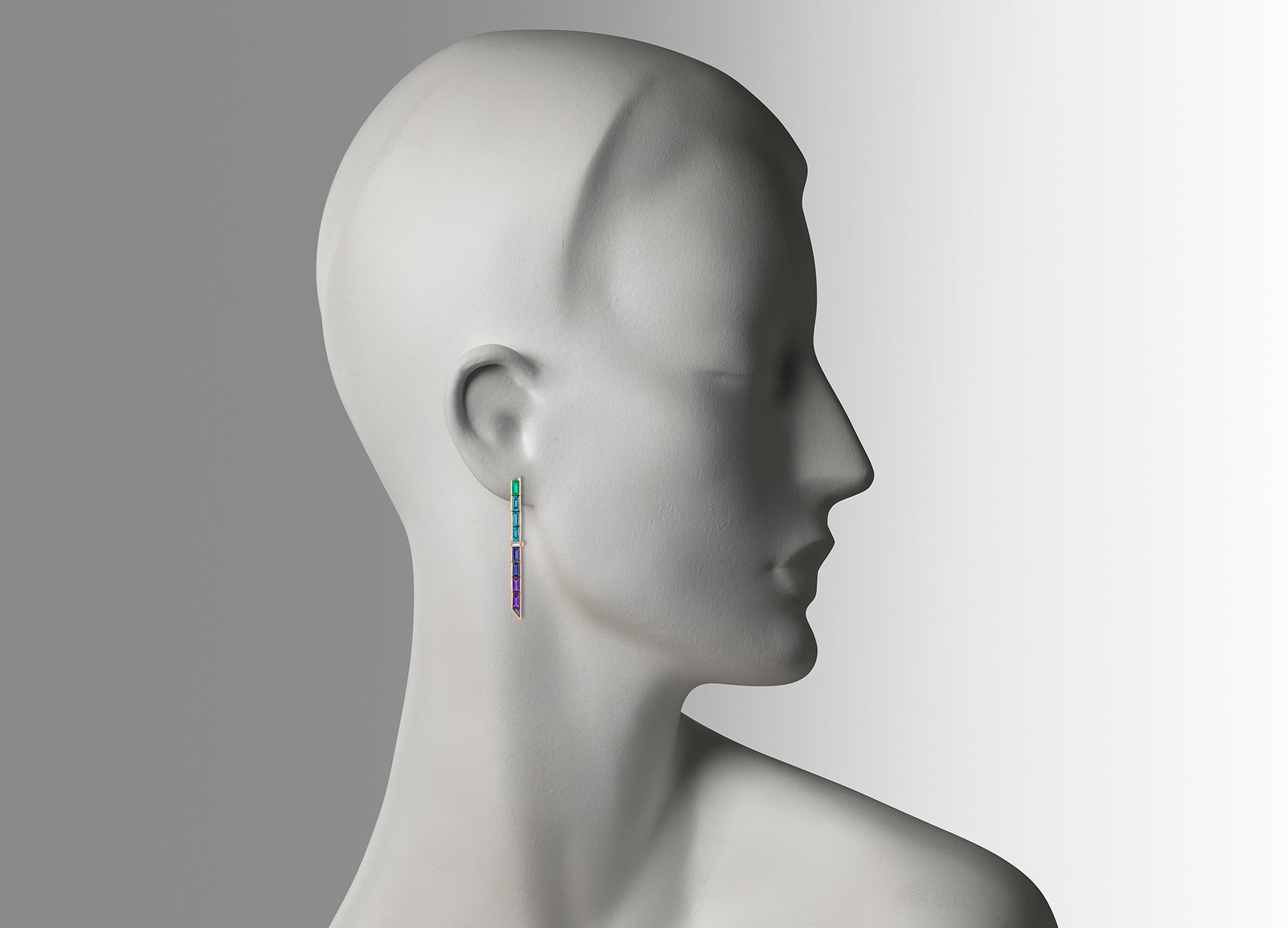 ELECTRIC NIGHT SINGLE LONG DROP EARRINGS