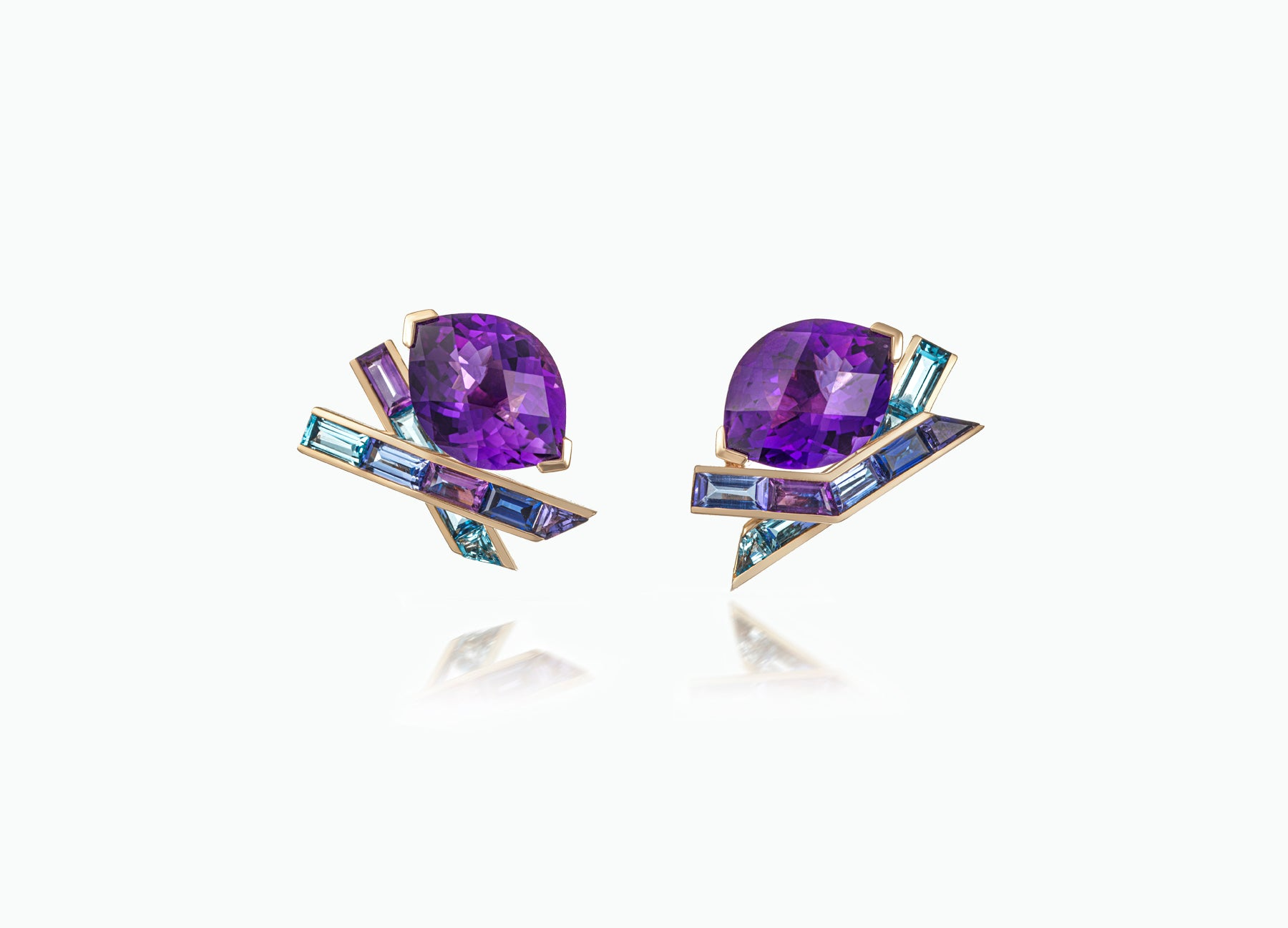 ELECTRIC NIGHT AMETHYST COCKTAIL STUD EARRINGS