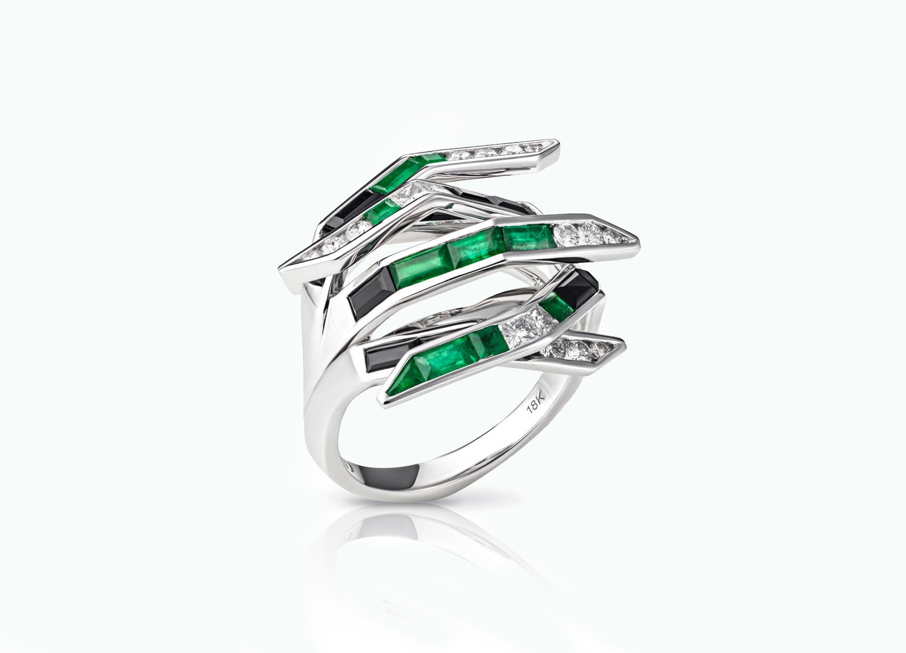 ELECTRIC NIGHT EMERALD BOMBAY RING