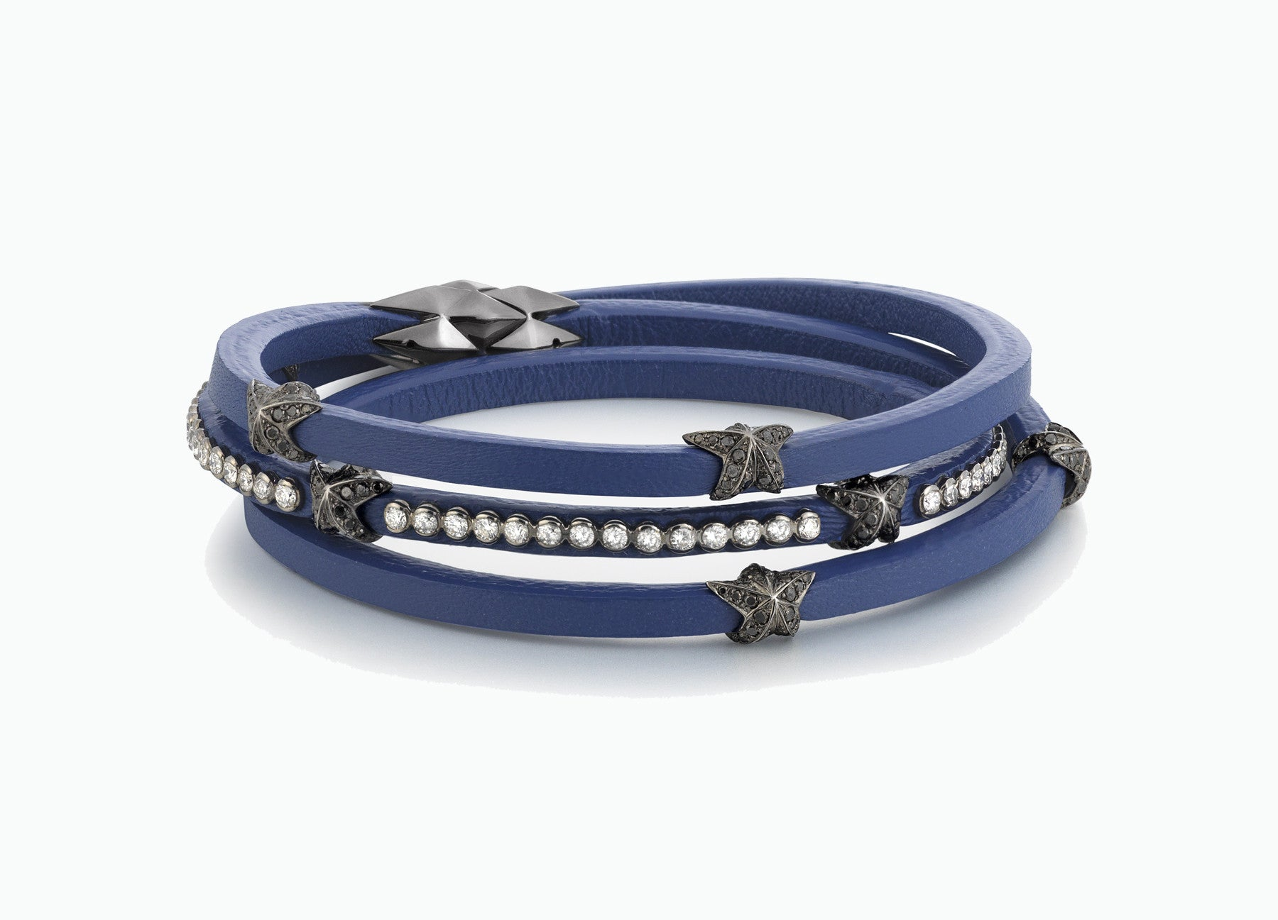 WRAP BRACELETS CITY COBALT BLUE TRIPLE WRAP