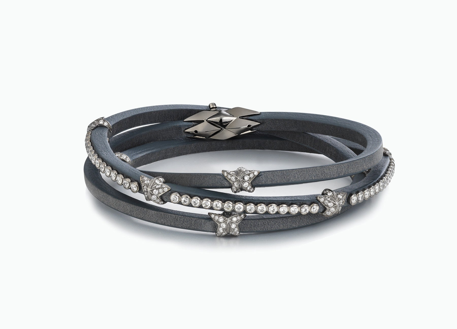 WRAP BRACELETS HERITAGE EARL GREY TRIPLE WRAP DIAMOND