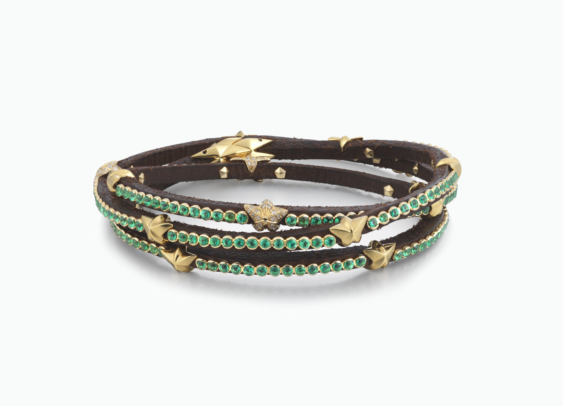 original triple alexander bracelet wrap at razor mcq buy mcqueen