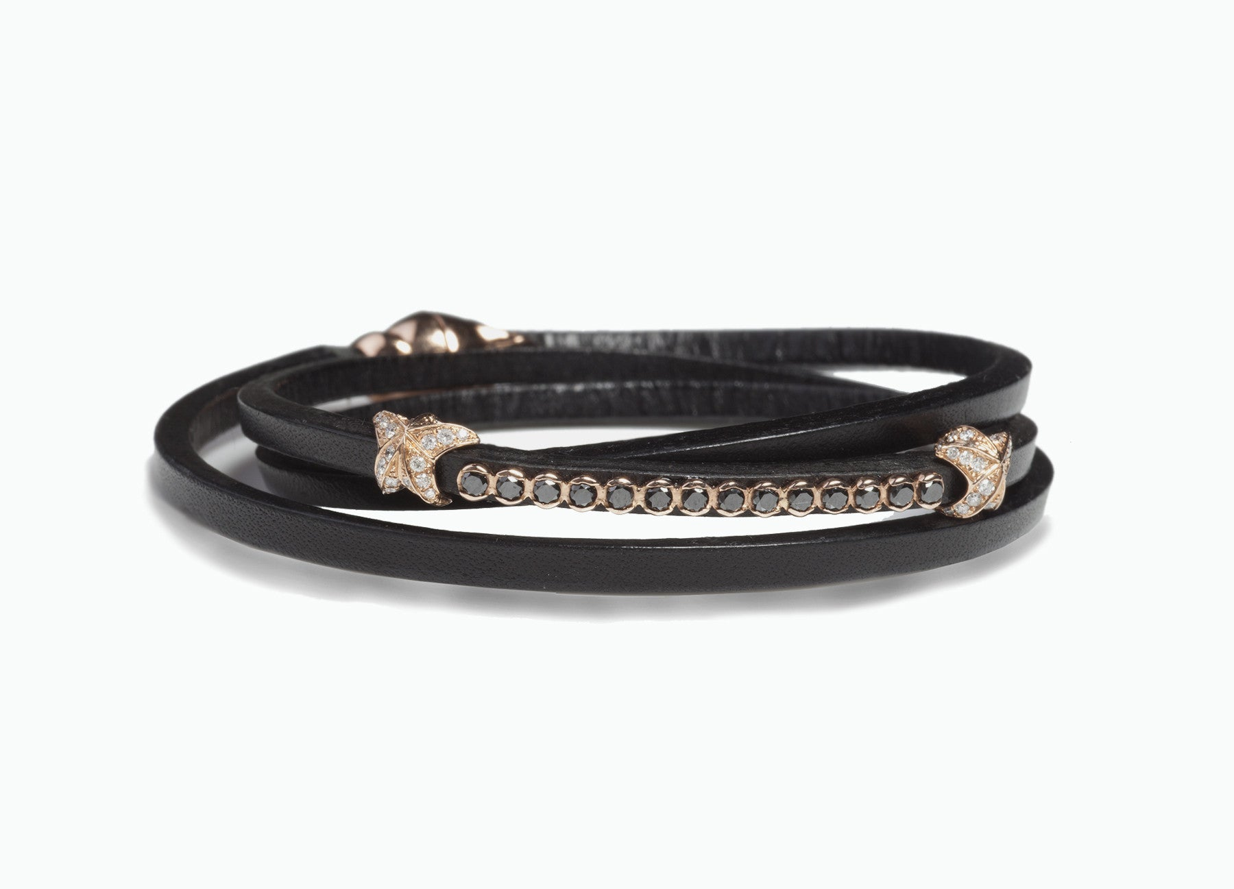 lyst in jewelry black mcq triple bracelet wrap by swallow normal gallery alexander product mcqueen leather
