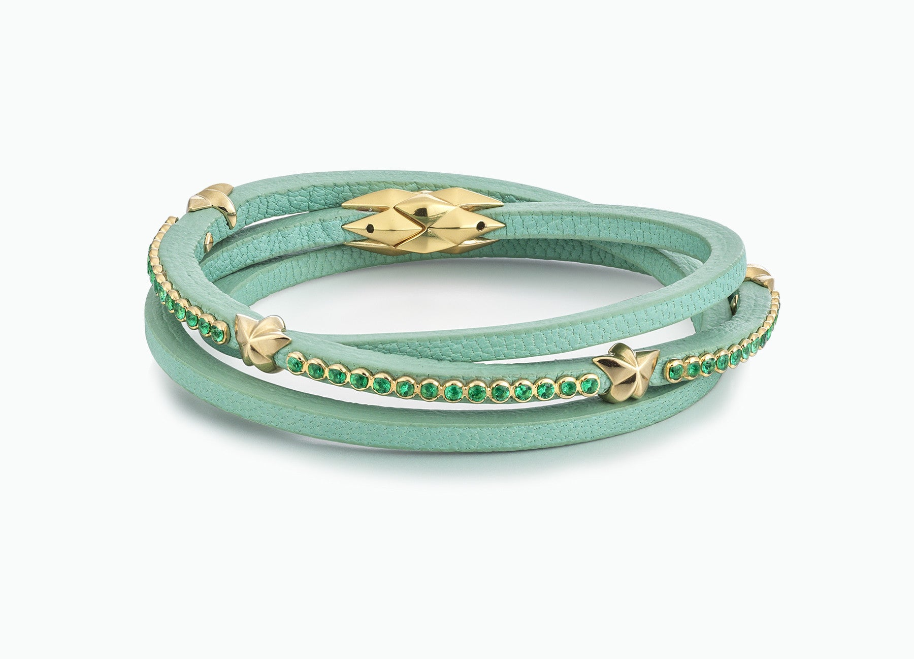 WRAP BRACELETS RESORT MINT TRIPLE WRAP