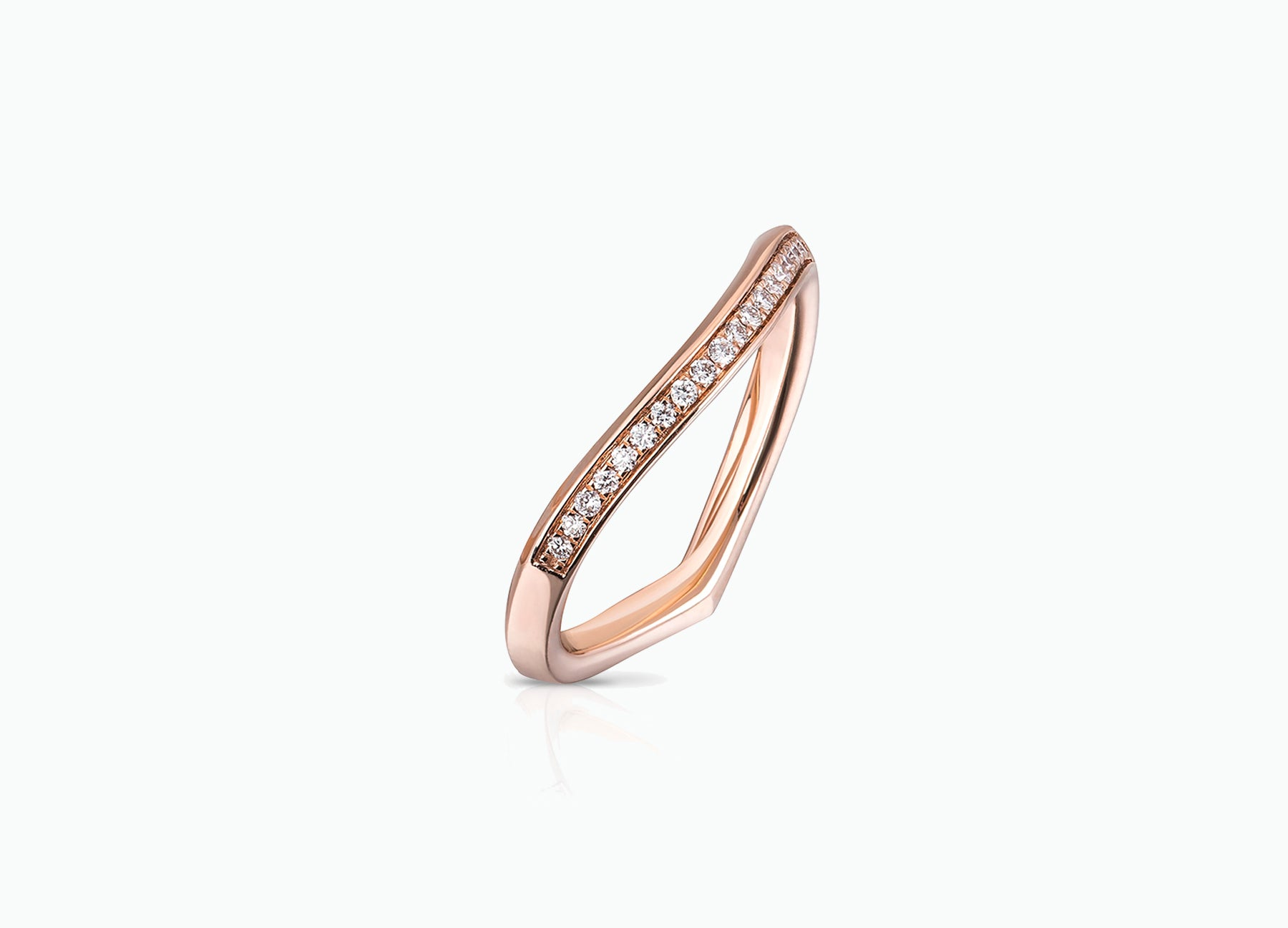 ROSE GOLD LILY PAD WEDDING BAND