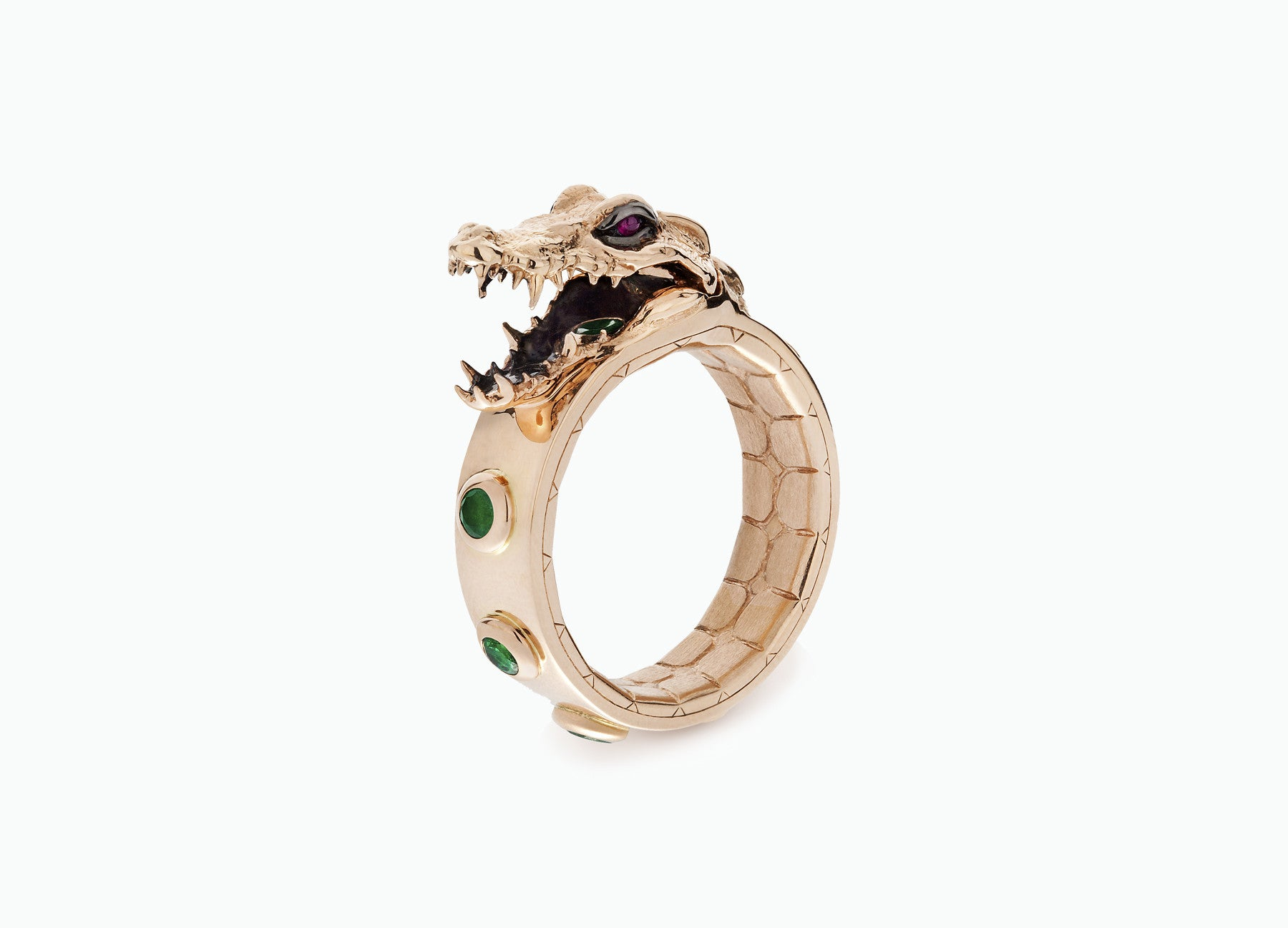 ONE OF A KIND CROCO RING