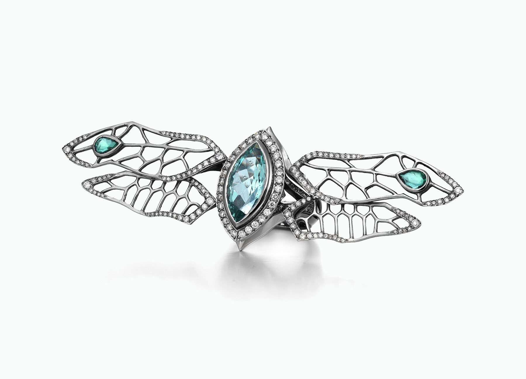 rings diamonds annoushka love engagement dragonfly ring gold diamond us com