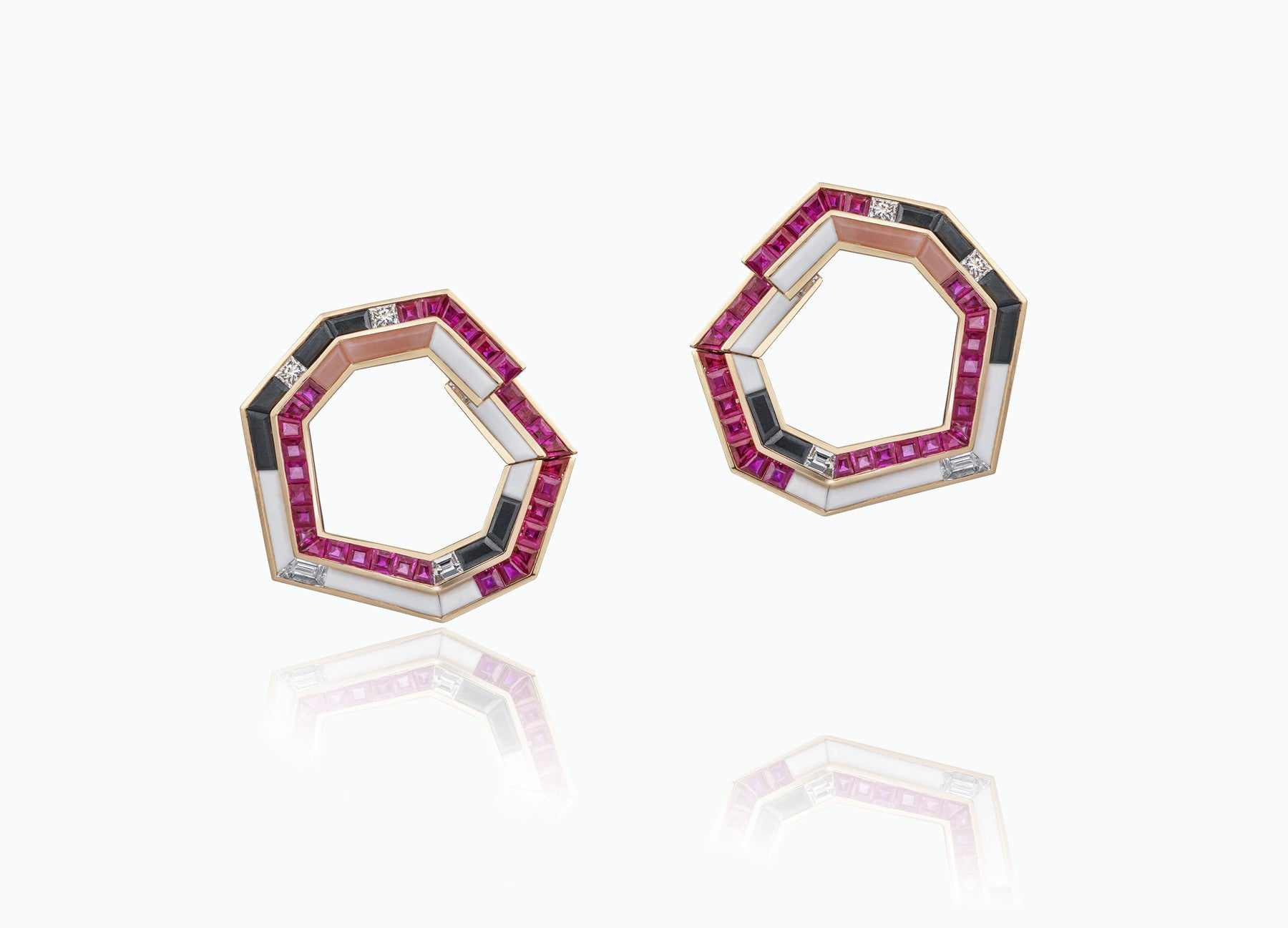 STELLAR HALO HOOPS EARRINGS