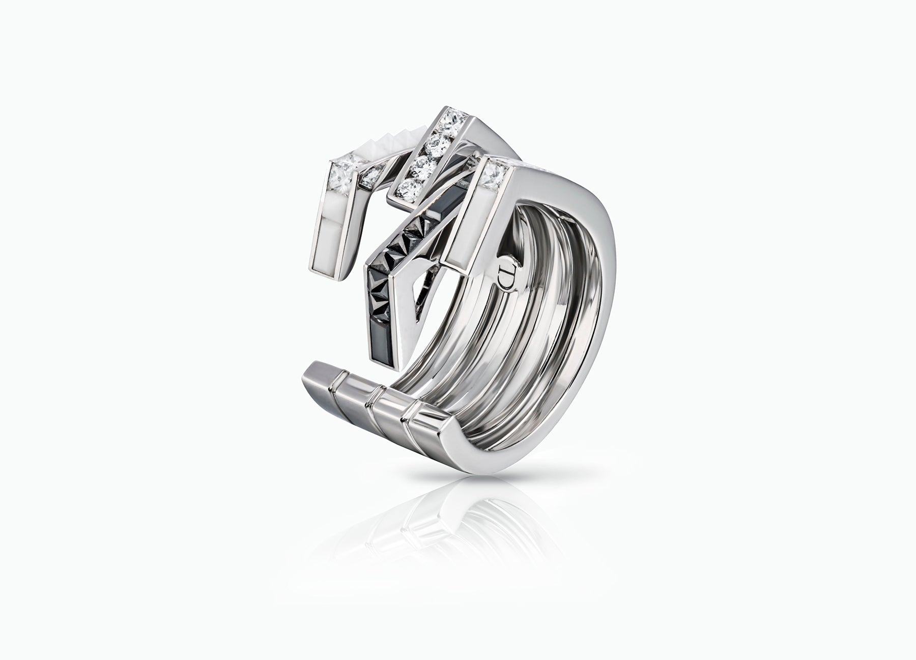 WHITE STELLAR BAND RING