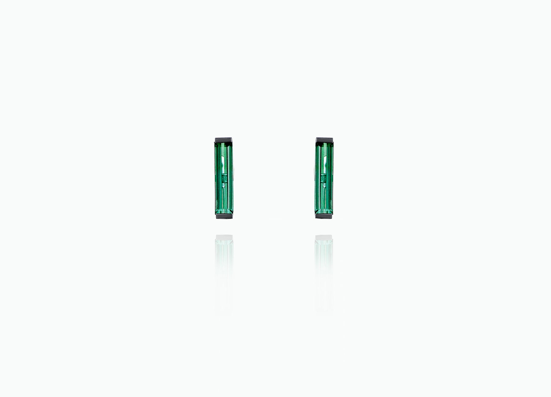 ART DECO TOURMALINE STUDS WITH SINGLE DROP TASSELS